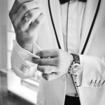 man wearing tuxedo in grayscale photography 38270 150x150 - UNIFORMES SASTRE CABALLERO